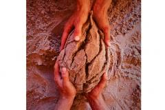 hands sand