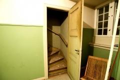 grøn loft trappe
